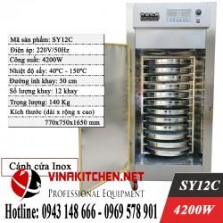 TỦ SẤY DƯỢC LIỆU INOX 12 KHAY CÁNH INOX SY12C